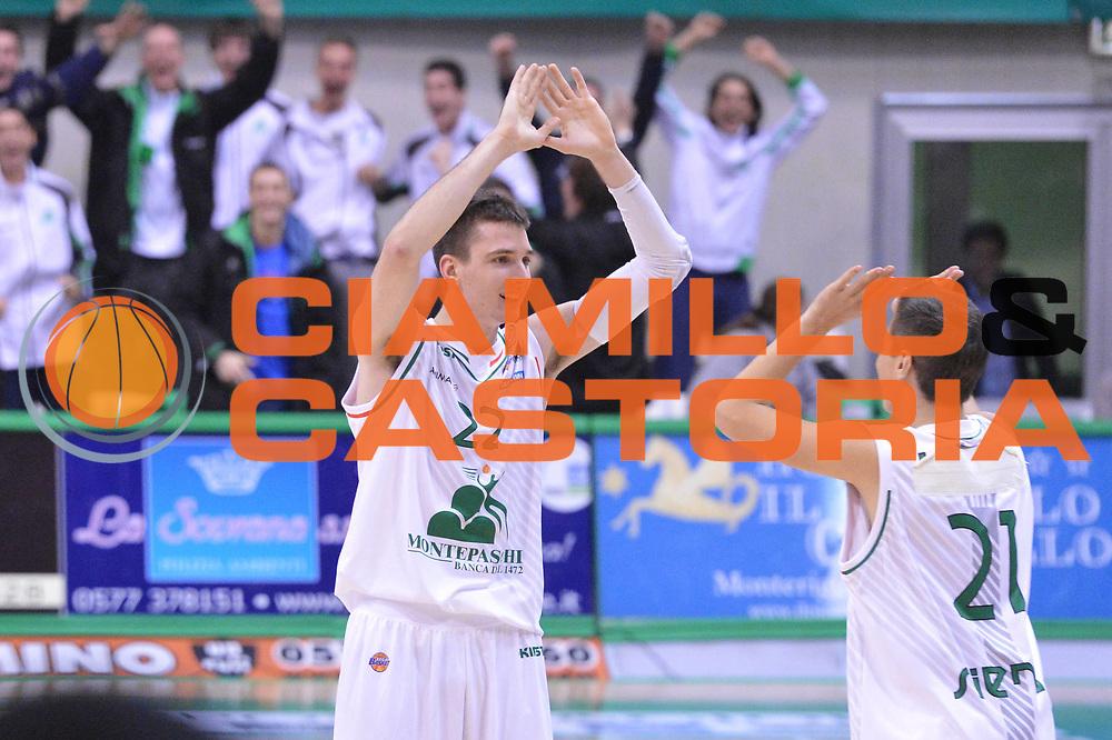 DESCRIZIONE : Siena Lega A 2012-13 Montepaschi Siena Sidigas Avellino<br /> GIOCATORE : Matt Janning<br /> CATEGORIA : esultanza<br /> SQUADRA : Montepaschi Siena<br /> EVENTO : Campionato Lega A 2012-2013 <br /> GARA :  Montepaschi Siena Sidigas Avellino<br /> DATA : 03/12/2012<br /> SPORT : Pallacanestro <br /> AUTORE : Agenzia Ciamillo-Castoria/GiulioCiamillo<br /> Galleria : Lega Basket A 2012-2013  <br /> Fotonotizia : Siena Lega A 2012-13 Montepaschi Siena Sidigas Avellino<br /> Predefinita :