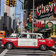 New York. times square. old car on 42nd street