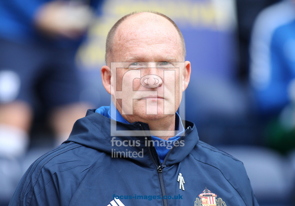 Simon Grayson manager of Sunderland on the touchline prior to the Sky Bet Championship match against Preston North End at Deepdale, Preston.<br /> Picture by Michael Sedgwick/Focus Images Ltd +44 7900 363072<br /> 30/09/2017