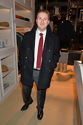 Simon Chadowitz at the launch of the Private White VC flagship store, 73 Duke Street, London on 11th December 2014.