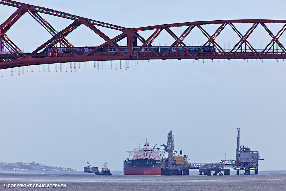 Hound Point Terminal, which is owned and operated by BP is located near the south shore of the river Forth just to the east of the Forth Rail Bridge. The terminal consists of two jetties, which are utilised to export North Sea Oil via the Forties Pipeline System. Vessels up to 350,000 tonnes deadweight can be loaded at the terminal. Hound Point is the largest oil exporting facility in Scotland.