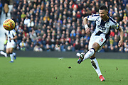 West Bromwich Albion defender Kieran Gibbs (3) crosses the ball during the EFL Sky Bet Championship match between West Bromwich Albion and Middlesbrough at The Hawthorns, West Bromwich, England on 2 February 2019.