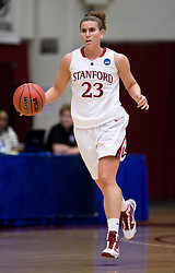 March 22, 2010; Stanford, CA, USA;  Stanford Cardinal guard Jeanette Pohlen (23) during the first half against the Iowa Hawkeyes in the second round of the 2010 NCAA womens basketball tournament at Maples Pavilion. Stanford defeated Iowa 96-67.