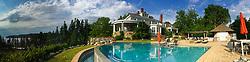 Pool and House, Nautilus Island, Castine, Maine, US