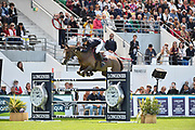 Patrice DELAVEAU (FRA) riding AQUILA HDC (winner) during the International Show Jumping of La Baule 2018 (Jumping International de la Baule), on May 18, 2018 in La Baule, France - Photo Christophe Bricot / ProSportsImages / DPPI