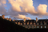 Paris. France. Le marais. 4th district. place des Vosges