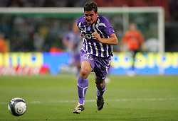 Xavier Pentecote attacks for Toulouse. Toulouse v Trabzonspor, Europa Cup, Second Leg, Stade Municipal, Toulouse, France, 27th August 2009.