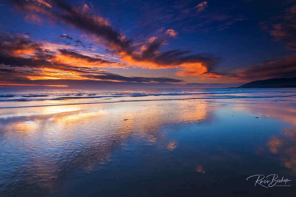 Sunset from Ventura State Beach, Ventura, California USA