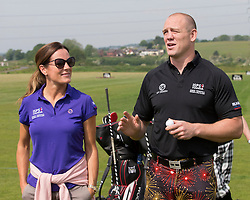 Mike Tindall and Natalie Pinkham at a  celebrity golf event  in aid of Rugby for Heroes at Celtic Manor,Wales, United Kingdom, Monday, 19th May 2014. Picture by  i-Images