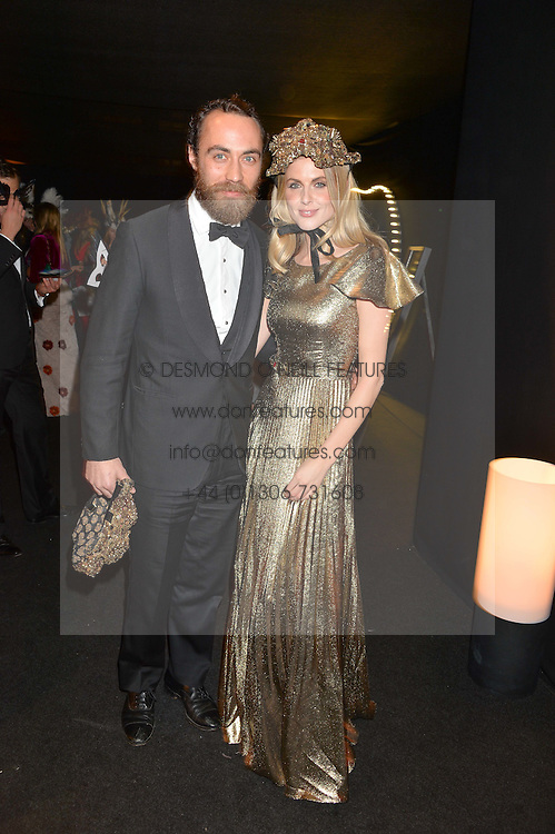 JAMES MIDDLETON and DONNA AIR at The Animal Ball presented by Elephant Family held at Victoria House, Bloomsbury Square, London on 22nd November 2016.