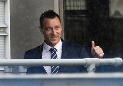 © London News Pictures. 06/06/2012. Luton, UK.  England and Chelsea defender John Terry giving a thumbs up to fans before boarding a plane at Luton Airport in Bedfordshire on June 6, 2012 to head to Poland for the Euro 2012 football tournament. The squads training camp is based in Krakow.  Photo credit: Ben Cawthra/LNP
