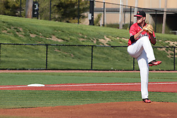 05 May 2018:  Reliever Colton Johnson during an NCAA Division I Baseball game between the Bradley Braves and the Illinois State Redbirds in Duffy Bass Field, Normal IL