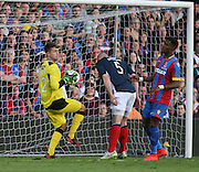 Kyle Gourlay clutches a cross - Crystal Palace v Dundee - Julian Speroni testimonial match at Selhurst Park<br /> <br />  - &copy; David Young - www.davidyoungphoto.co.uk - email: davidyoungphoto@gmail.com