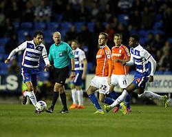 Birmingham City's AndrewShinnie passes - Photo mandatory by-line: Robbie Stephenson/JMP - Mobile: 07966 386802 - 22/04/2015 - SPORT - Football - Reading - Madejski Stadium - Reading v Birmingham City - Sky Bet Championship
