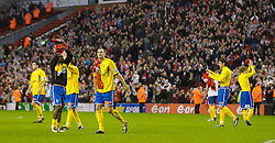 LIVERPOOL, ENGLAND - Saturday, January 26, 2008: Havant and Waterlooville players applaud the Spion Kop during their lap of honour after the FA Cup 4th Round match at Anfield. (Photo by David Rawcliffe/Propaganda)