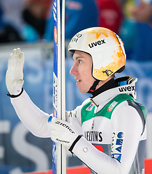 06.01.2015, Paul Ausserleitner Schanze, Bischofshofen, AUT, FIS Ski Sprung Weltcup, 63. Vierschanzentournee, Finale, im Bild Thomas Diethart (AUT) // Thomas Diethart of Austria reacts after his first Final Jump of 63rd Four Hills Tournament of FIS Ski Jumping World Cup at the Paul Ausserleitner Schanze, Bischofshofen, Austria on 2015/01/06. EXPA Pictures © 2015, PhotoCredit: EXPA/ Johann Groder