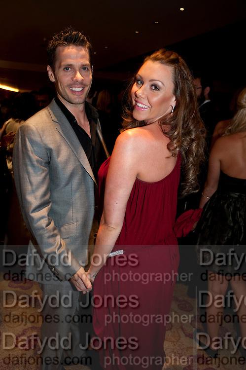MICHELLE HEATON; HUGH HAMLEY, London Lifestyle Awards. Riverbank Park Plaza. London.6 October 2011. <br /> <br />  , -DO NOT ARCHIVE-© Copyright Photograph by Dafydd Jones. 248 Clapham Rd. London SW9 0PZ. Tel 0207 820 0771. www.dafjones.com.