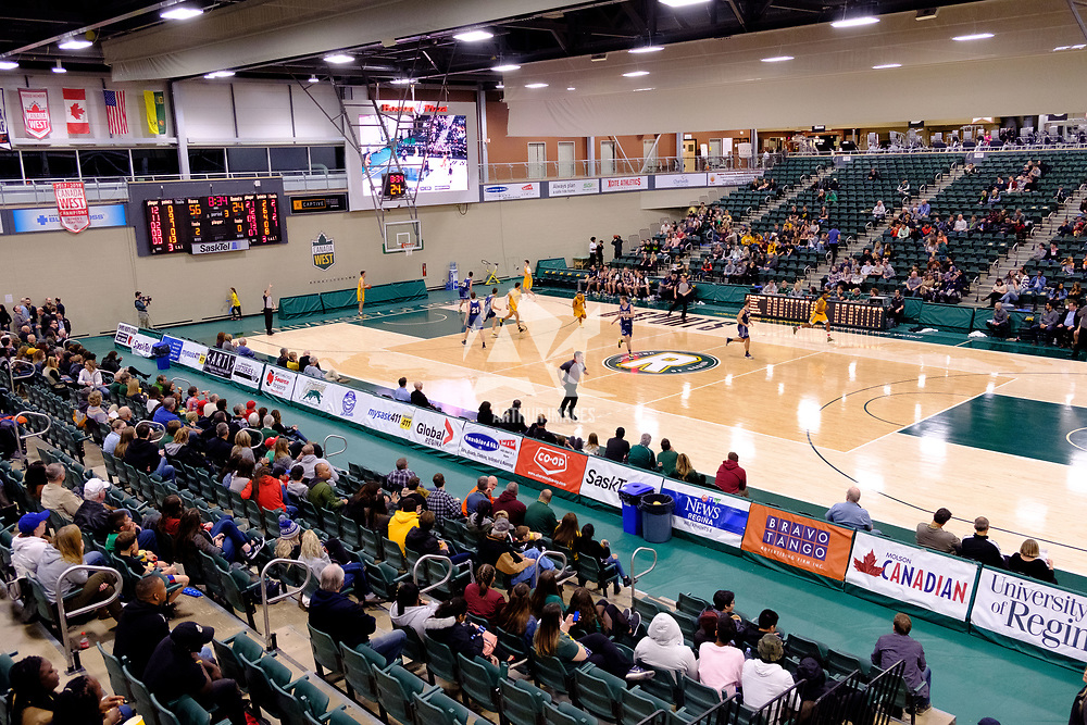 Court during the Regina Cougars vs Lethbridge game on November 2 at University of Regina. Credit Matte Black Photos/©Arthur Images 2018