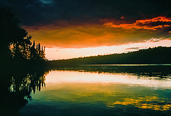 Late evening light on English Lake in the Chequamegon National Forest.