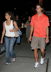"LUIS GUERRA/©2006 RAMEY PHOTO 310-828-3445<br /> <br /> New York, August 26, 2006<br /> <br /> RAFAEL NADAL, the Spanish tennis champ and his girlfriend, Francesca ""Xisca"" Perello, leave their midtown Manhattan hotel.<br /> <br /> PG/lg (Mega Agency TagID: MEGAR136537_2.jpg) [Photo via Mega Agency]"