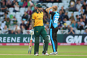 Alex Hales of Nottinghamshire Outlaws batting during the Vitality T20 Blast North Group match between Nottinghamshire County Cricket Club and Worcestershire County Cricket Club at Trent Bridge, West Bridgford, United Kingdon on 18 July 2019.