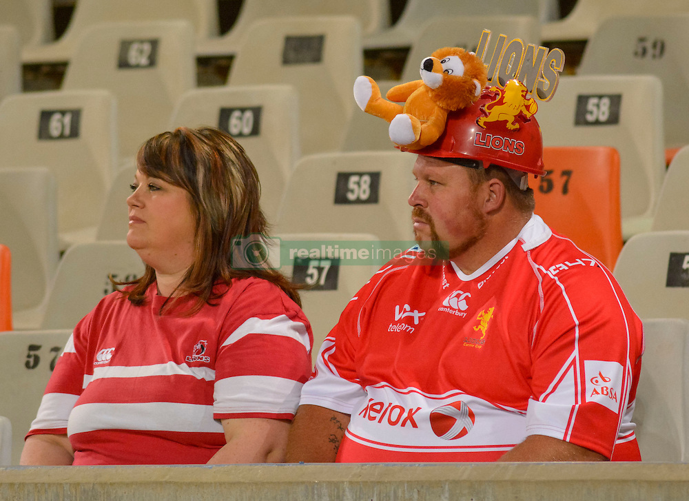 Lions fans during the Currie Cup Premier division match between the The Free State Cheetahs and the Lions held at Toyota Stadium (Free State Stadium), Bloemfontein, South Africa on the 15th September 2016<br /> <br /> Photo by:   Frikkie Kapp / Real Time Images