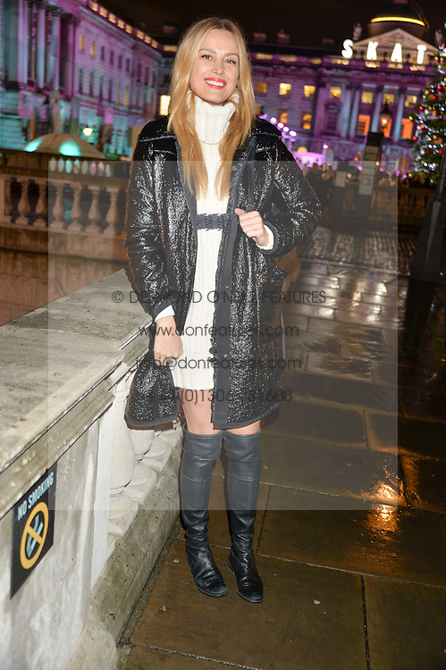 PETRA NEMCOVA at Skate At Somerset House with Fortnum & Mason on 16th November 2016.