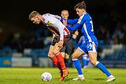 Sunderland forward Charlie Wyke (9) and Gillingham FC defender Alfie Jones  (14) during the EFL Sky Bet League 1 match between Gillingham and Sunderland at the MEMS Priestfield Stadium, Gillingham, England on 7 December 2019.