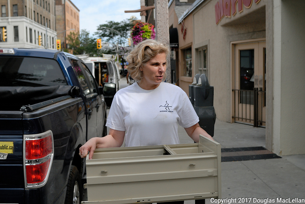 Moving day for Windsor Workers' Education Centre from the downtown core. Assistance from Richard, Rockin' Robbee, Dave, Mike, Katherine, Mireille, and Paul.