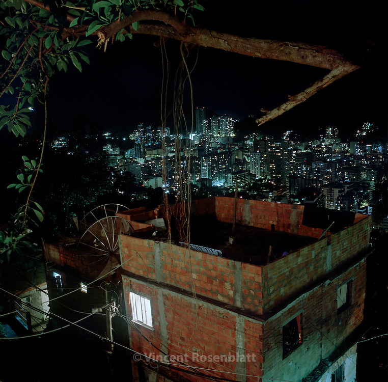 "House on the hill of the favela Santa Marta, in the borough of Botafogo, Rio de Janeiro..It is in this favela  that Michael Jackson's video clip ""They don't care about us"" was filmed, in 1996, as well as João Moreira Salles & Katia Lund 's internationally awarded documentary  ""Noticias de uma Guerra Particular"" in 1999. 