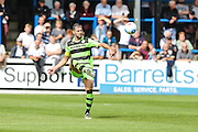 Forest Green Rovers Aarran Racine (21) clears the ball during the Vanarama National League match between Dover Athletic and Forest Green Rovers at Crabble Athletic Ground, Dover, United Kingdom on 10 September 2016. Photo by Shane Healey.
