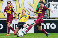 BREDA - NAC Breda - Roda JC , Rat Verlegh stadion , Voetbal , Finale play-offs , seizoen 2014/2105 , 31-05-2015 , NAC Breda speler Uros Matic (l) in duel met Roda JC speler Hicham Faik (r)