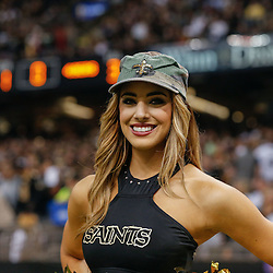 Nov 9, 2014; New Orleans, LA, USA; New Orleans Saints Saintsations cheerleader during the second quarter of a game against the San Francisco 49ers at Mercedes-Benz Superdome. The 49ers defeated the Saints 27-24 in overtime. Mandatory Credit: Derick E. Hingle-USA TODAY Sports
