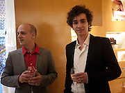 STEVEN LAZARIDES; ROBBIE SHEEHAN, Louis Vuitton openingof New Bond Street Maison. London. 25 May 2010. -DO NOT ARCHIVE-© Copyright Photograph by Dafydd Jones. 248 Clapham Rd. London SW9 0PZ. Tel 0207 820 0771. www.dafjones.com.