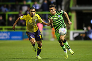 Forest Green Rovers Taylor Allen(12) runs forward during the Leasing.com EFL Trophy match between Forest Green Rovers and Coventry City at the New Lawn, Forest Green, United Kingdom on 8 October 2019.