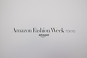 OCTOBER 18: Placard of Amazon Fashion Week Tokyo's 2017 Spring/Summer at Shibuya Hikarie in Tokyo on Oct. 18, 2016 and other locations through 23rd.18/10/2016-Tokyo, JAPAN