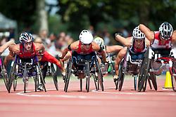 MCFADDEN Tatyana, WOLF Edith, SCHAER Manuela, SUI, USA, 1500m, T54, 2013 IPC Athletics World Championships, Lyon, France