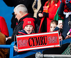 Wales fans enjoying the pre match atmosphere<br /> <br /> Photographer Simon King/Replay Images<br /> <br /> Six Nations Round 5 - Wales Women v Ireland Women- Sunday 17th March 2019 - Cardiff Arms Park - Cardiff<br /> <br /> World Copyright © Replay Images . All rights reserved. info@replayimages.co.uk - http://replayimages.co.uk
