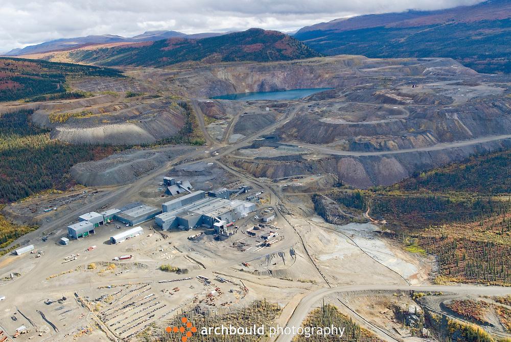 Aerial view of the Faro Mine, Faro Yukon