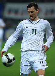 Milivoje Novakovic (11) at the fourth round qualification game of 2010 FIFA WORLD CUP SOUTH AFRICA in Group 3 between Slovenia and Northern Ireland at Stadion Ljudski vrt, on October 11, 2008, in Maribor, Slovenia.  (Photo by Vid Ponikvar / Sportal Images)
