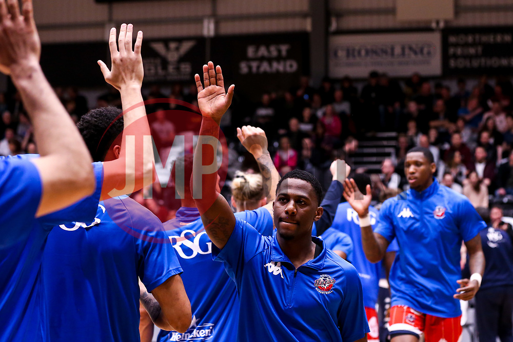 Jalan McCloud of Bristol Flyers - Photo mandatory by-line: Robbie Stephenson/JMP - 01/03/2019 - BASKETBALL - Eagles Community Arena - Newcastle upon Tyne, England - Newcastle Eagles v Bristol Flyers - British Basketball League Championship