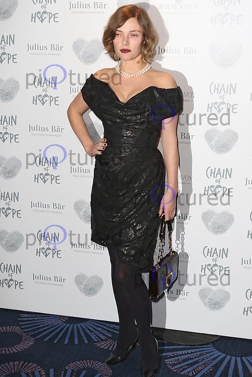 Camilla Rutherford, Chain of Hope Gala Ball, Grosvenor House, London UK, 20 November 2015, Photo by Brett D. Cove