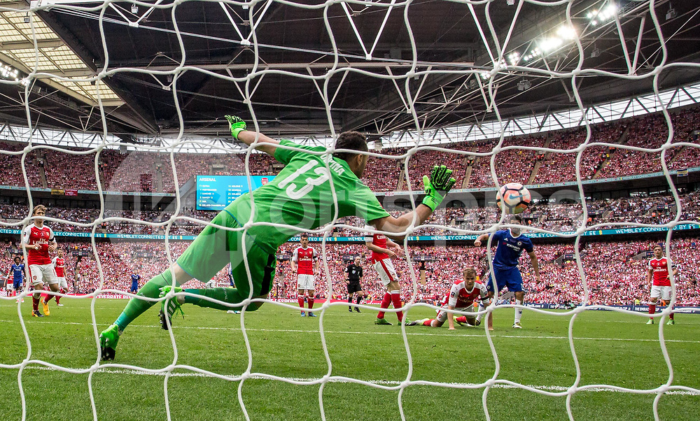 Diego Costa of Chelsea scores during the Emirates FA Cup Final between Arsenal and Chelsea at Wembley Stadium, London, England on the 27th May 2017. Photo by Liam McAvoy.