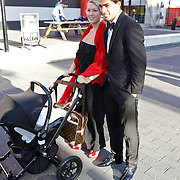 NLD/Hilversum/20100830 - Voetbalgala 2010, Luis Suarez en partner Sofia en dochter Delfina