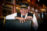 Walt Vielbaum on the San Jose Peninsular Railway Streetcar 52 at the Western Railway Museum | April 23, 2014