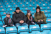 Scunthorpe united fans in the stands prior to the EFL Sky Bet League 1 match between Scunthorpe United and Rotherham United at Glanford Park, Scunthorpe, England on 10 February 2018. Picture by Craig Zadoroznyj.