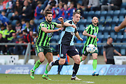 George Francomb midfielder for AFC Wimbledon (7) during the Sky Bet League 2 match between Wycombe Wanderers and AFC Wimbledon at Adams Park, High Wycombe, England on 2 April 2016. Photo by Stuart Butcher.