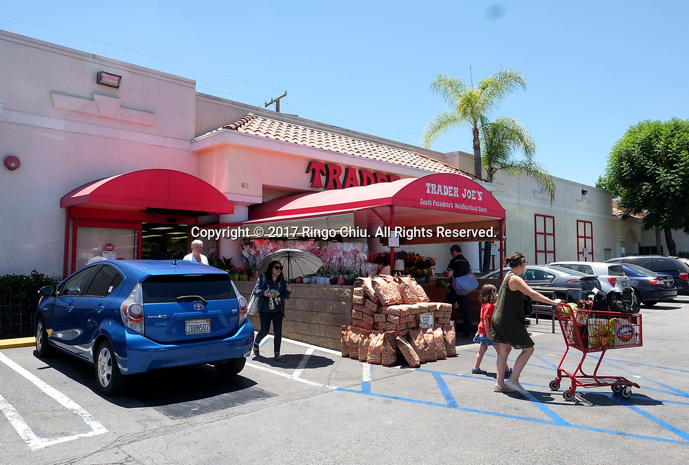 Customers shop at Trader Joe's store in South Pasadena.(Photo by Ringo Chiu)<br /> <br /> Usage Notes: This content is intended for editorial use only. For other uses, additional clearances may be required.