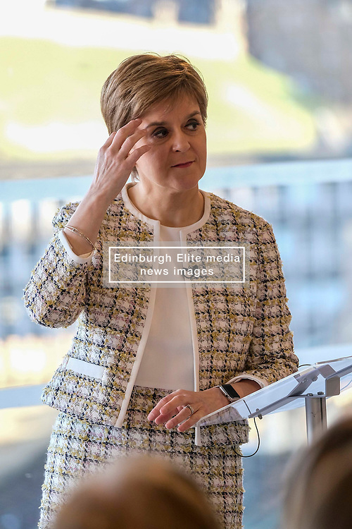 Scottish Visa Plan, 27 January 2020<br /> <br /> The First Minister was in Edinburgh today to unveil immigration policy proposals for a new Scottish Visa aimed at addressing depopulation and cutting skills gaps.<br /> <br /> All of Scotland's population growth for the next 25 years is projected to come from migration, in contrast to the rest of the UK.<br /> <br /> New UK Government immigration controls and the end of free movement after Brexit is expected to exacerbate the risk of skills gaps and labour shortages in Scotland.<br /> <br /> Pictured: First Minister Nicola Sturgeon <br /> <br /> Alex Todd | Edinburgh Elite media