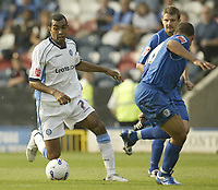 Photo: Aidan Ellis.<br /> Rochdale v Wycombe Wanderers. Coca Cola League 2. 16/09/2006.<br /> Wycombe's Kevin Betsy causes the Rochdale defence problems